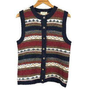 Vintage St John's Bay Striped Western Sweater Vest